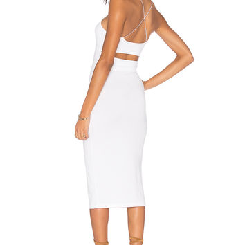 T by Alexander Wang Strappy Tank Dress in White
