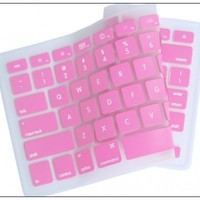 "Generic BABY PINK Keyboard Silicone Cover Skin for Macbook / Macbook Pro 13"" 15"" 17"" Aluminum Unibody"