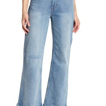 Cheap Monday | A-Line Frayed Hem Jeans | Nordstrom Rack