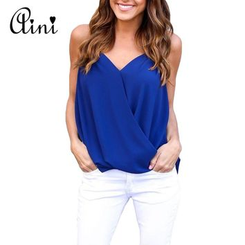 Plus Size 5XL Women's Blouse Chiffon Shirt Fashion Womens Tops and Blouses V-neck Off Shoulder Top Blusa Feminina Mujer 2018