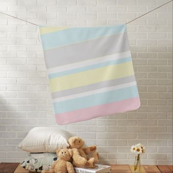 Stylish Soft Pastel Stripes Baby Blanket
