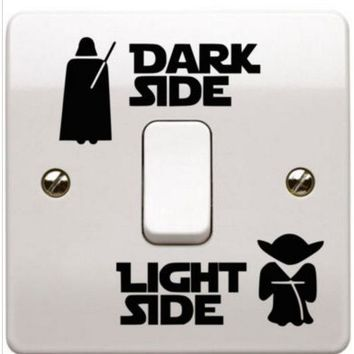 Star Wars Dark Side Light Side Switch Sticker