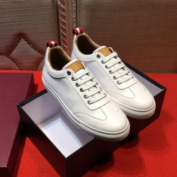 Bally Helliot Men's Plain Calf Leather Trainer White Sneakers Shoes Sale