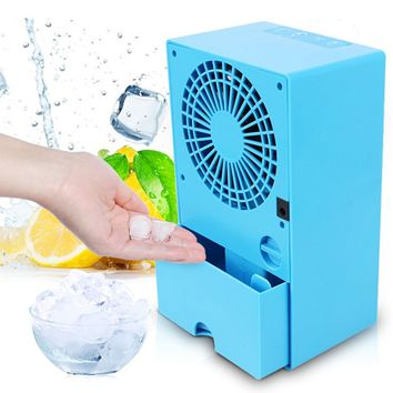 24V 24W Portable Air Conditioner Fan 3 Cooling Put Water Ice Quiet Fan Wind Speed Outdoor Travel Device On Home Office Desk