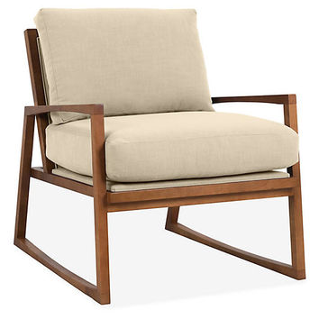 Markus Accent Chair, Flax Crypton - Accent Chairs - Chairs - Living Room - Furniture | One Kings Lane