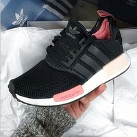 """""""Adidas"""" NMD Trending Fashion Casual Sports Shoes Pink soles"""