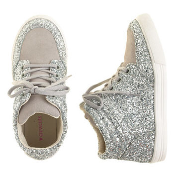 crewcuts Girls Glitter Suede High-Tops
