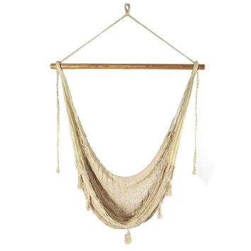 XL Natural Color Macrame Boho Chair Hammock