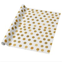 Glam Gold Dots Wrapping Paper