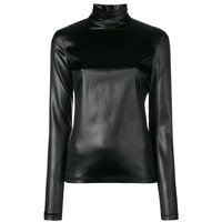 Black Sheen Turtleneck by Givenchy