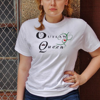 Once Upon a Time Outlaw Queen T-Shirt. Fandom Shirt.