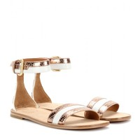 marc by marc jacobs - snake-effect leather sandals