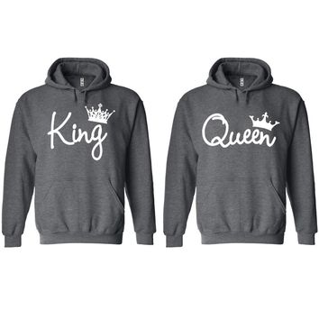 King and Queen Write Charcoal Hoodie