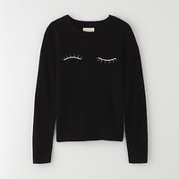 CREWNECK EYELASH SWEATER