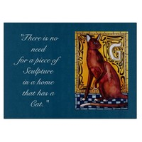Cat Quote with Monogram G Cutting Board