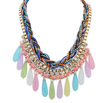 New Arrival Gift Shiny Jewelry Stylish Pendant Korean Necklace [6586313159]