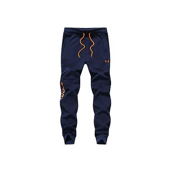Under Armour Spring and summer men's youth trousers Slim casual pants Blue