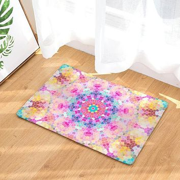 Watercolor Mandala Rug