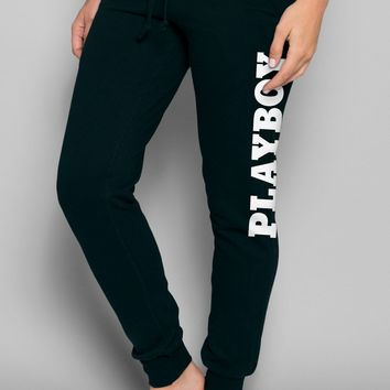 Playboy Basics Logo Jogger Pants - Black