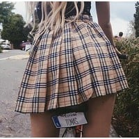 Harajuku Plaid Mini Skirt