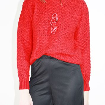 Cable Knit Sweater / S
