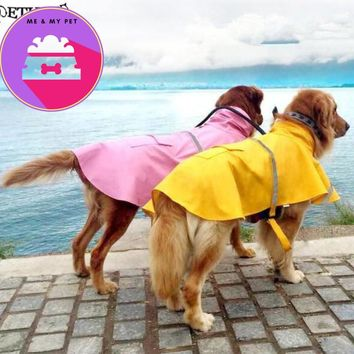 S-4XL large big dog raincoat Pet Apparel Dog Clothes Dog Raincoat Pet Jacket  Rain Pet Waterproof Coat Dog rain clothing
