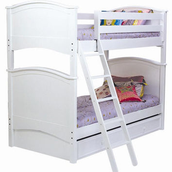 Grayson White Twin over Twin Bunk Beds