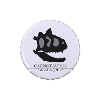 Carnotaurus Skull Jelly Belly Candy Tin