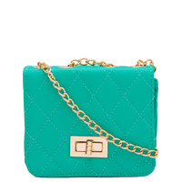 Lower Case Mini Clutch - Teal