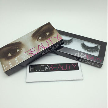 Huda Beauty False Eyelashes Messy Cross Thick Natural Fake Eye Lashes Professional Makeup Beauty Bigeye Long False Eye Lashes