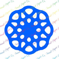 Kaleidoscope Circle Vinyl Decal. Available in Any Color or Size, Custom Shapes Available by Request
