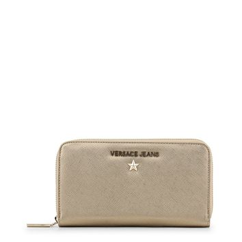 Versace Jeans Yellow Synthetic Leather Purse
