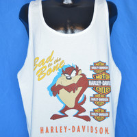 90s Harley Davidson Taz Bad to Bone Tank Top t-shirt Extra-Large