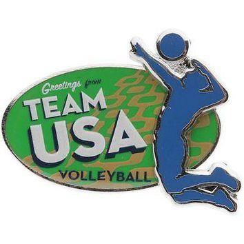 Licensed Sports Team USA Volleyball Pin on Pin KO_20_2