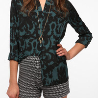 Silence & Noise Silky Printed Blouse