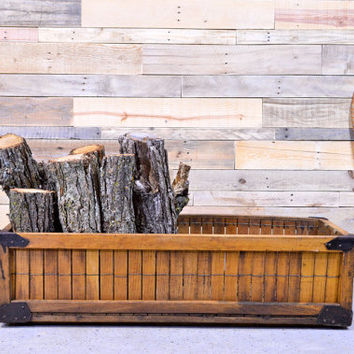 LARGE Vintage Wood Shipping Crate, Old Bakery Crate, Wood Produce Crate