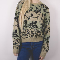 Vintage Floral Neutral Sweater