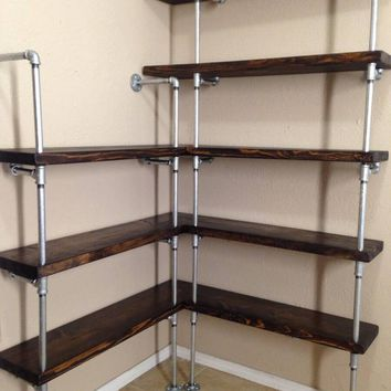 Industrial Corner Shelving Unit
