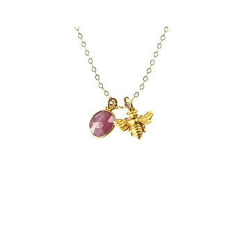 Honey Bee Charm Necklace