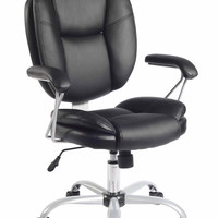 Techni Mobili Plush Task Chair - Black and Chocolate Brown