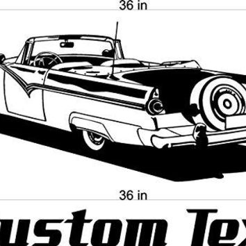 Car Wall Decals Stickers Man Cave Boys Room Décor 3 FEET Wide