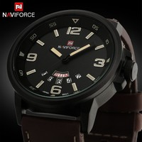 Men Sports Watches Men's Quartz Hour Date Clock Man Leather Strap Military Army Waterproof Wrist watch
