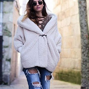 Hot style women's hot selling warm fur cashmere coat