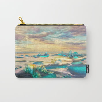 Crystal snow desert Carry-All Pouch by exobiology