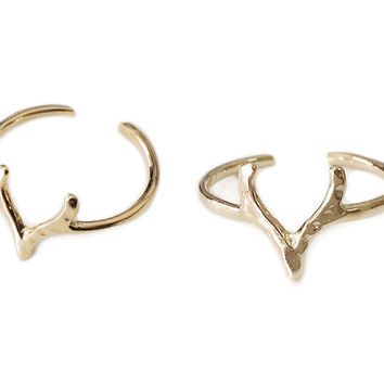 Antlers Ring Duo