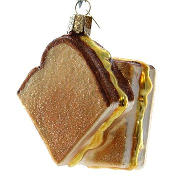 Old World Christmas Grilled Cheese Sandwich Glass Ornament