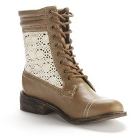 Unleashed by Rocket Dog Beige/Khaki Giuliana Combat Boots - Women