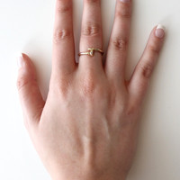 Gold Curved Nail Ring