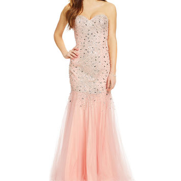 Glamour by Terani Couture Sweetheart Trumpet Gown | Dillards