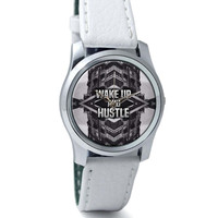 Wake Up And Hustle Motivational Wrist Watch